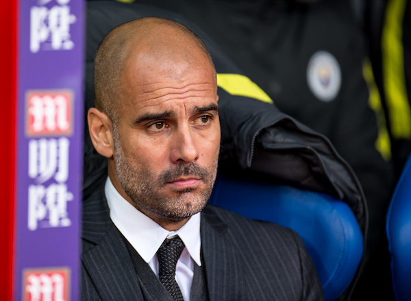 Pep Guardiola manager of Manchester City during the Premier League match at Selhurst Park, London Picture by Liam McAvoy/Focus Images Ltd 07413 543156 19/11/2016