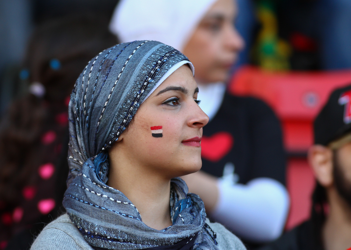 An Egyptian fan during the International Friendly match at the Matchroom Stadium, London Picture by David Horn/Focus Images Ltd +44 7545 970036 04/06/2014