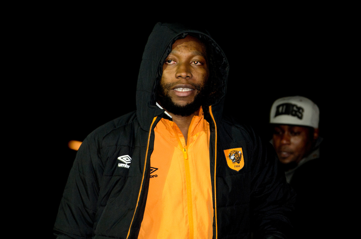 Dieumerci Mbokani of Hull City arrive at the stadium before the Premier League match at the KCOM Stadium, Hull Picture by Russell Hart/Focus Images Ltd 07791 688 420 30/12/2016