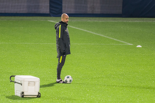 Pep Guardiola during the Manchester City training session, before tomorrow's Champions League match v Celtic, at City Football Academy , Manchester Picture by Matt Wilkinson/Focus Images Ltd 07814 960751 05/12/2016