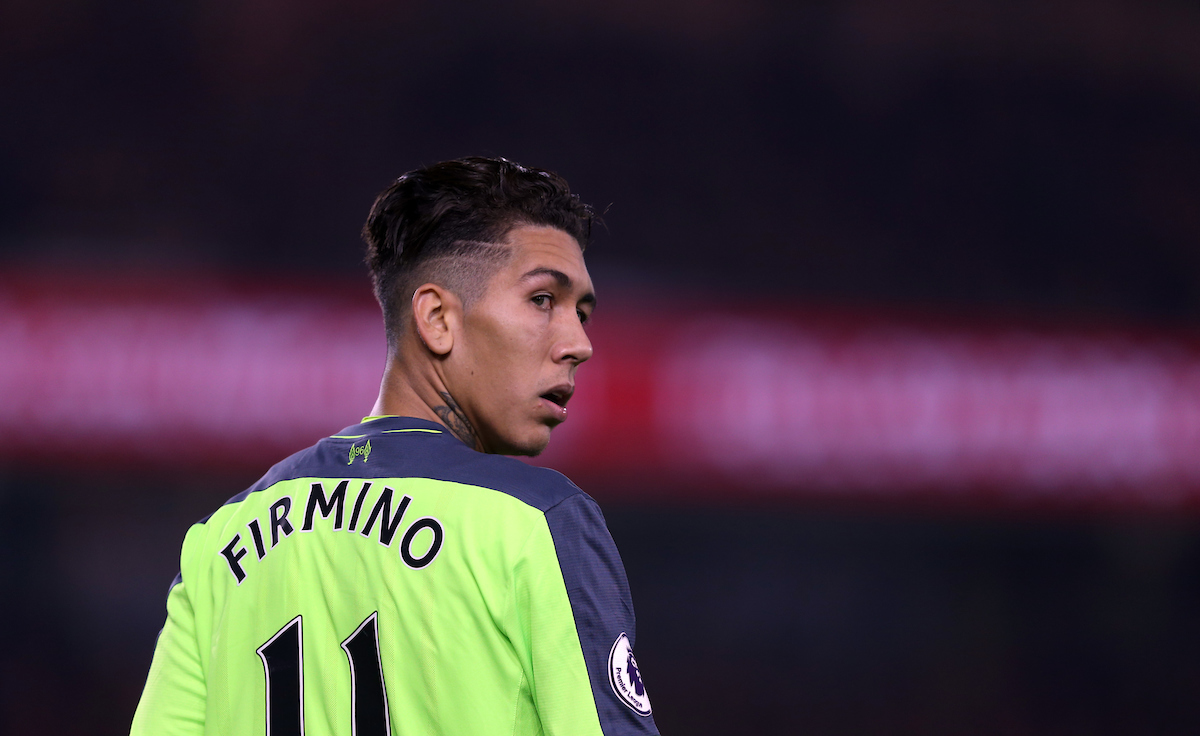 Roberto Firmino of Liverpool during the Premier League match at the Riverside Stadium, Middlesbrough Picture by Christopher Booth/Focus Images Ltd 07711958291 14/12/2016