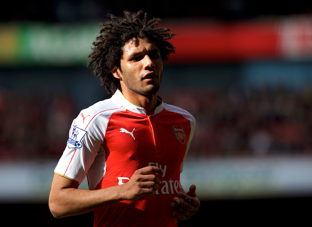 Mohamed Elneny of Arsenal during the Barclays Premier League match at the Emirates Stadium, London Picture by Alan Stanford/Focus Images Ltd +44 7915 056117 17/04/2016