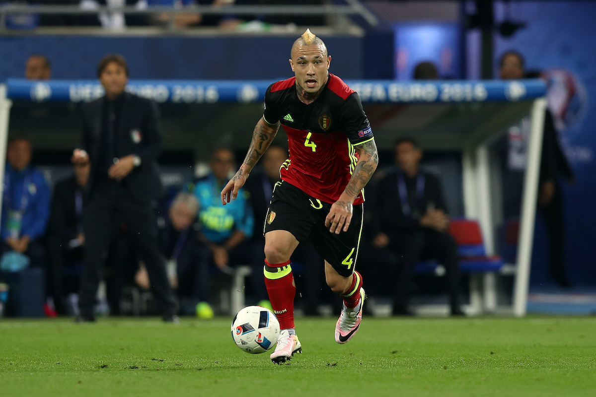 Radja Nainggolan of Belgium in action during the UEFA Euro 2016 match at Stade de Lyons, Lyons Picture by Paul Chesterton/Focus Images Ltd +44 7904 640267 13/06/2016