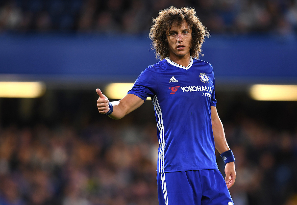 David Luiz of Chelsea during the Premier League match against Liverpool at Stamford Bridge, London Picture by Andrew Timms/Focus Images Ltd +44 7917 236526 16/09/2016