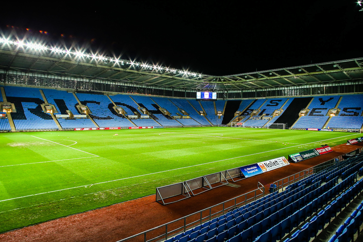 A general view before the Johnstone's Paint Trophy match at the Ricoh Arena, Coventry Picture by Andy Kearns/Focus Images Ltd 0781 864 4264 12/11/2014