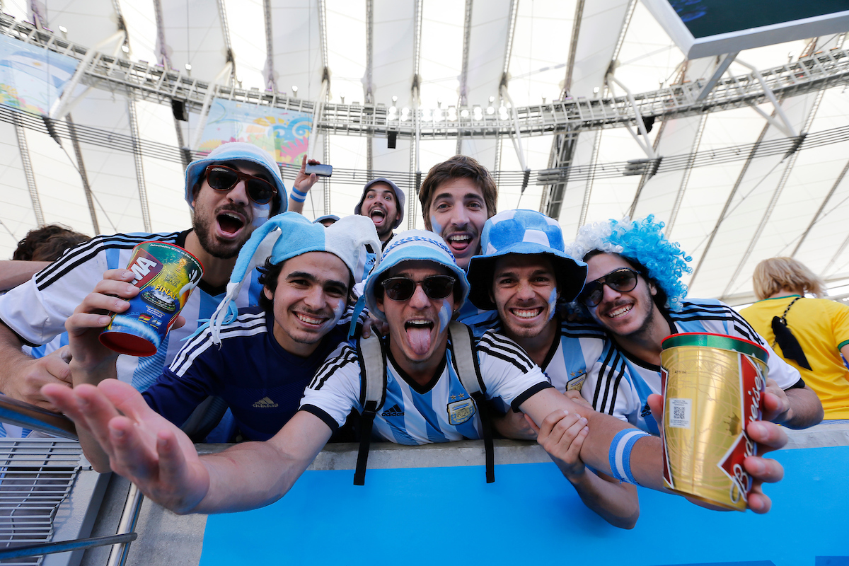 Argentina fans during the 2014 FIFA World Cup Final match at Maracana Stadium, Rio de Janeiro Picture by Andrew Tobin/Focus Images Ltd +44 7710 761829 13/07/2014