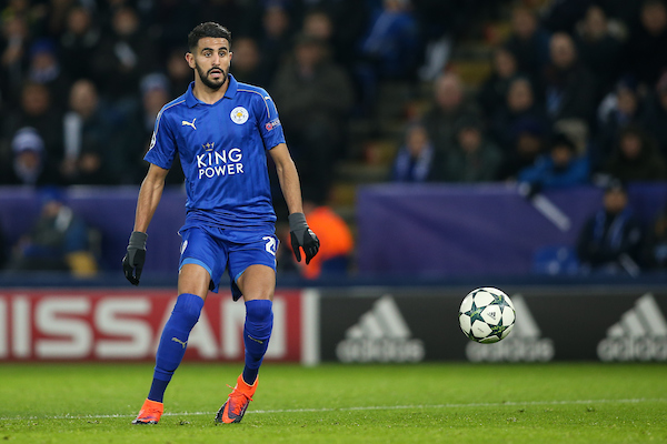 Riyad Mahrez of Leicester City during the UEFA Champions League match at the King Power Stadium, Leicester Picture by Andy Kearns/Focus Images Ltd 0781 864 4264 22/11/2016
