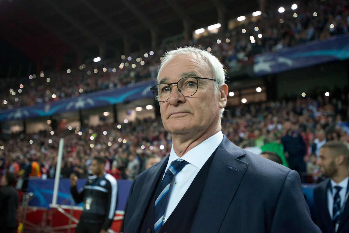 Claudio Ranieri, manager of Leicester City, has been sacked by the club nine months after winning the Premier League.  Picture by Focus Images/Focus Images Ltd 07814 482222 23/02/2017  FIL SEVILLA LEICESTER 87.JPG  Original Caption: Leicester City manager Claudio Ranieri before the UEFA Champions League match at Ramon Sanchez Pizjuan Stadium, Seville Picture by Russell Hart/Focus Images Ltd 07791 688 420 22/02/2017