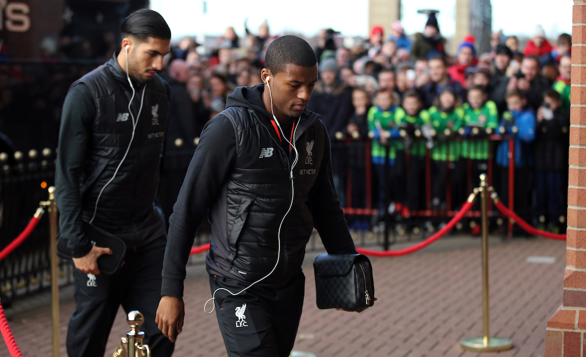 The Liverpool team arrive including players Georginio Wijnaldum and Emre Can prior to the Premier League match between Sunderland and Liverpool at the Stadium Of Light, Sunderland Picture by Christopher Booth/Focus Images Ltd 07711958291 02/01/2017