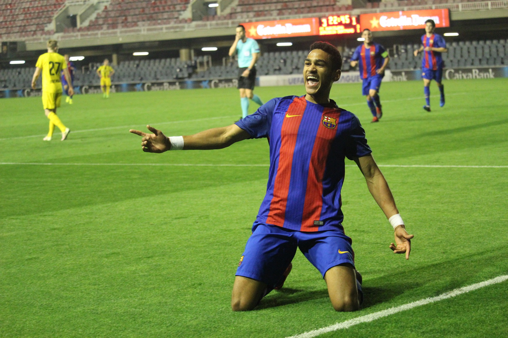 Mboula es el máximo goleador del Barcelona en la Youth League.
