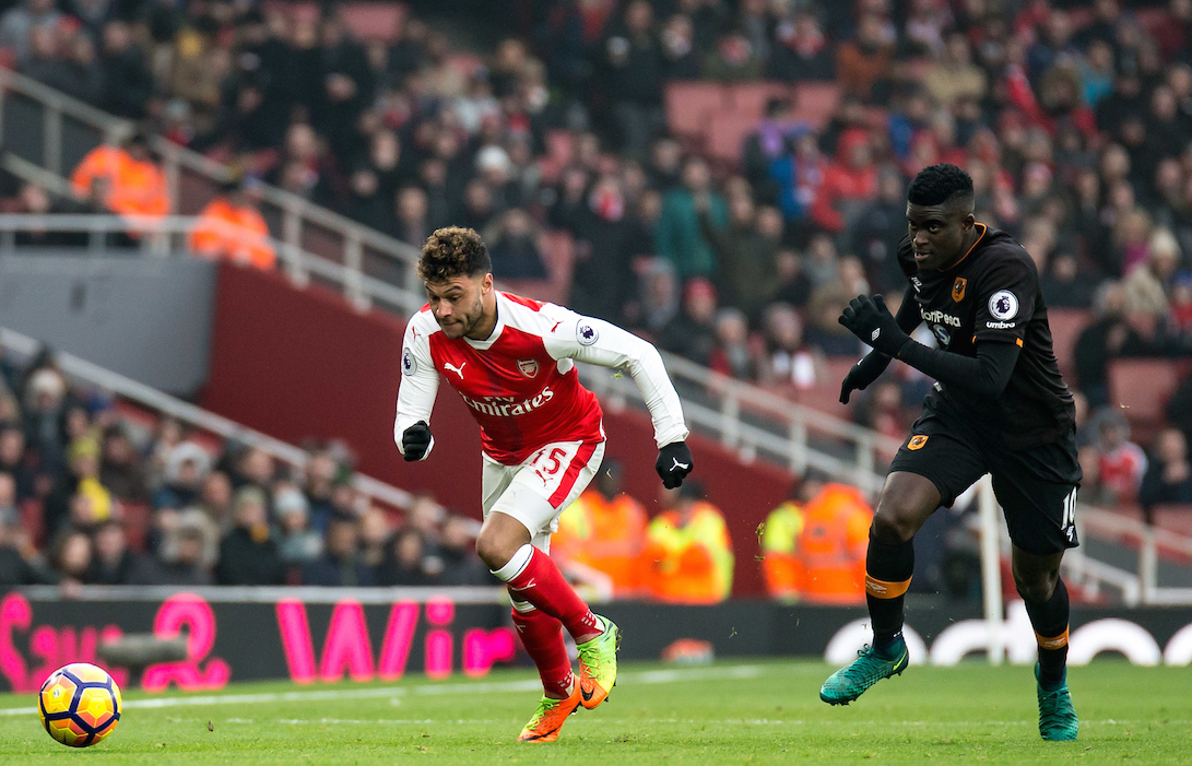 Alex Oxlade-Chamberlain of Arsenal during the Premier League match at the Emirates Stadium, London Picture by Liam McAvoy/Focus Images Ltd 07413 543156 11/02/2017