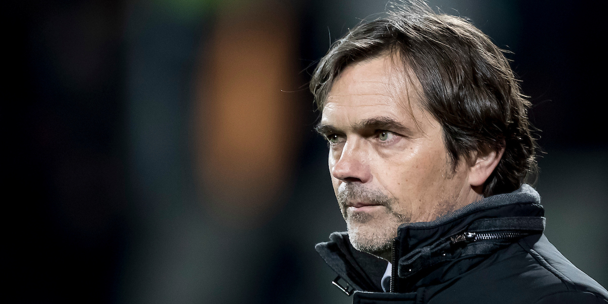 Phillip Cocu, manager of PSV Eindhoven during the Dutch Eredivisie match at De Adelaarshorst, Deventer Picture by Joep Joseph Leenen/Focus Images Ltd +316 5261929 11/03/2017 ***NETHERLANDS OUT***