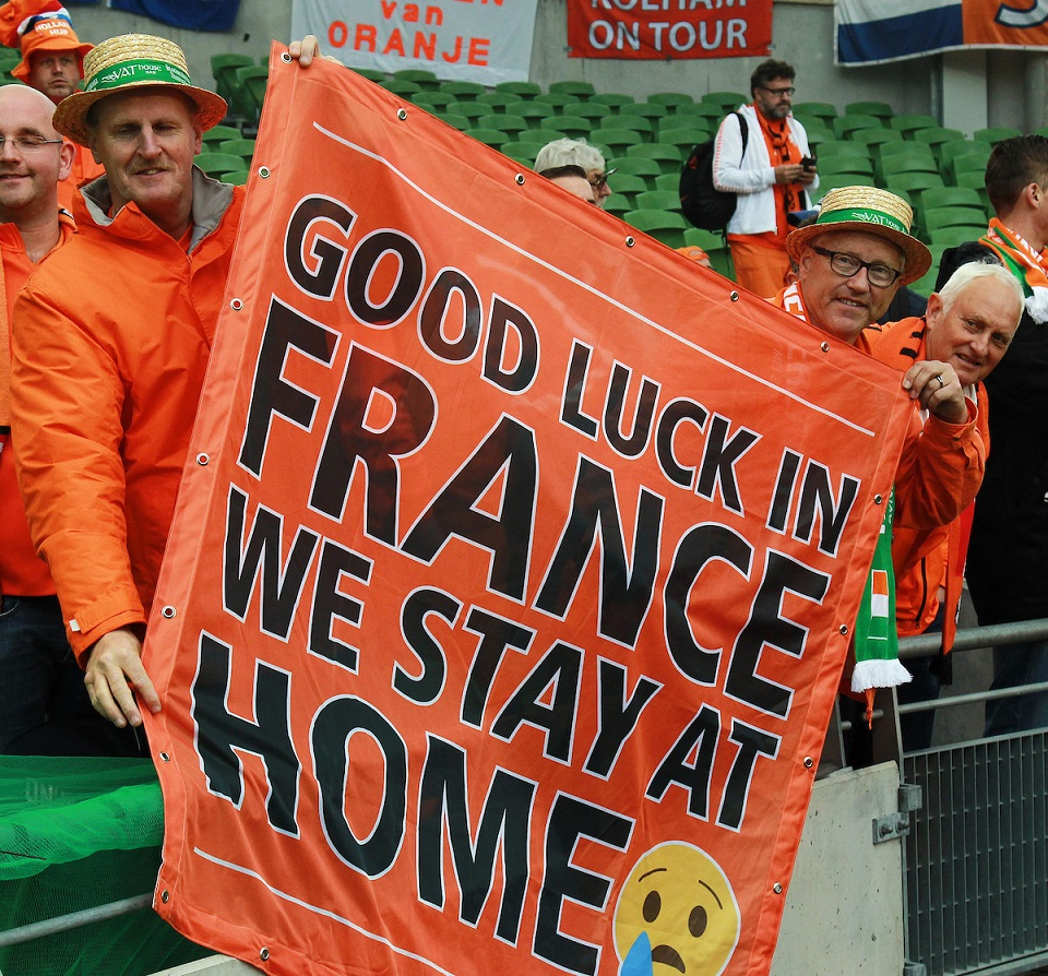 Dutch fans at the International Friendly match at the Aviva Stadium, Dublin Picture by Lorraine O'Sullivan/Focus Images Ltd +353 872341584 27/05/2016