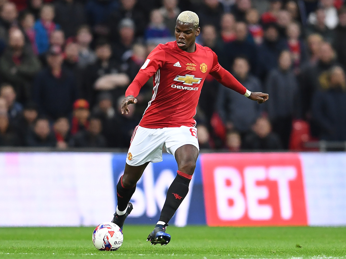 Paul Pogba of Manchester United during the EFL Cup Final match against Southampton at Wembley Stadium, London Picture by Andrew Timms/Focus Images Ltd +44 7917 236526 26/02/2017