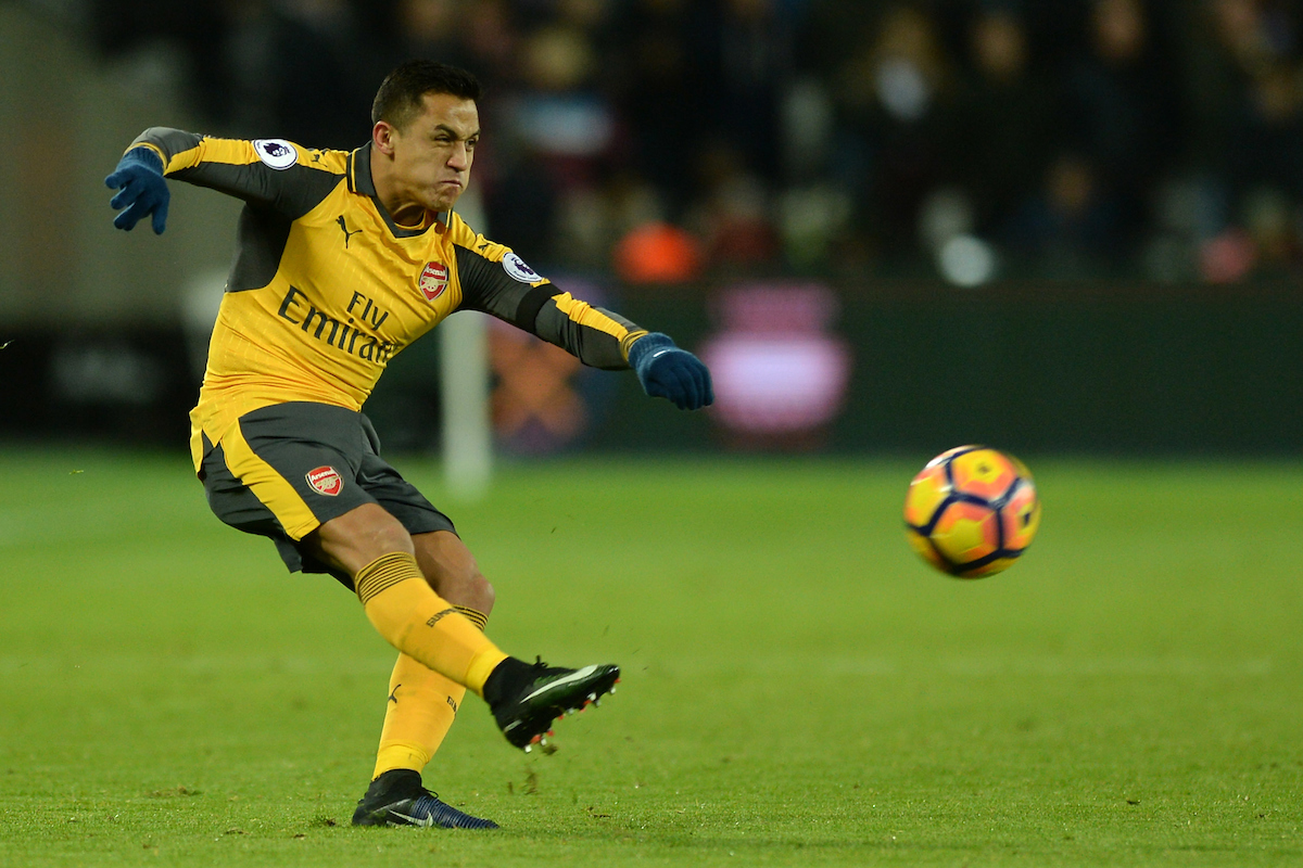 Alexis Sanchez of Arsenal during the Premier League match between West Ham United and Arsenal at the London Stadium, Stratford Picture by Richard Blaxall/Focus Images Ltd +44 7853 364624 03/12/2016