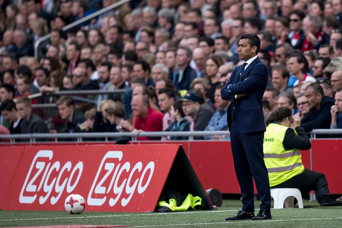 Giovanni van Bronckhorst, coach of Feyenoord during the Dutch Eredivisie match at Amsterdam Arena, Amsterdam Picture by Joep Joseph Leenen/Focus Images Ltd +316 5261929 02/04/2017 ***NETHERLANDS OUT***