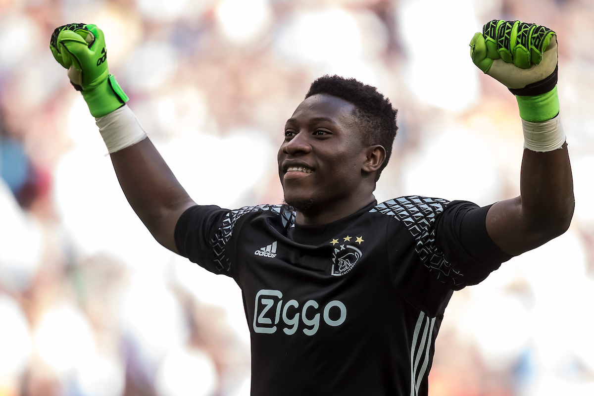 Andre Onana of Ajax during the Dutch Eredivisie match at Amsterdam Arena, Amsterdam Picture by Joep Joseph Leenen/Focus Images Ltd +316 5261929 02/04/2017 ***NETHERLANDS OUT***