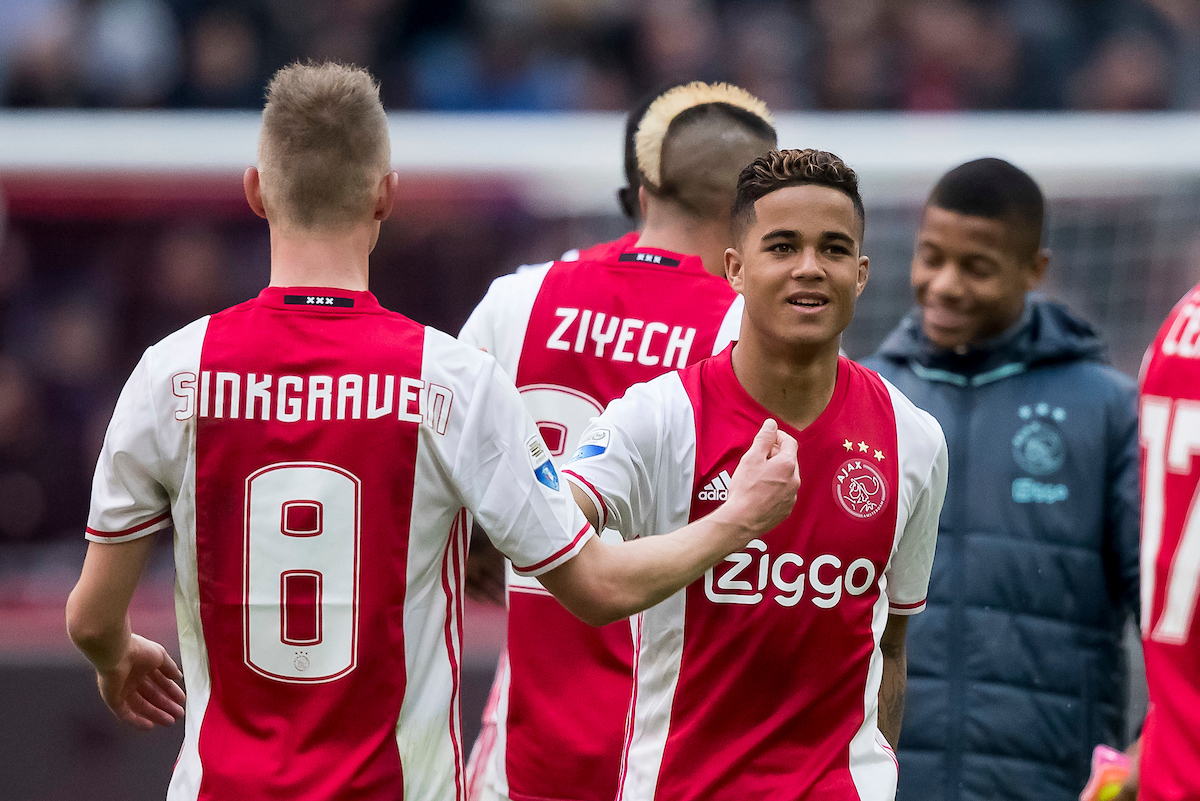 Justin Kluivert of Ajax (M) after the Dutch Eredivisie match at Amsterdam Arena, Amsterdam Picture by Joep Joseph Leenen/Focus Images Ltd +316 5261929 02/04/2017 ***NETHERLANDS OUT***