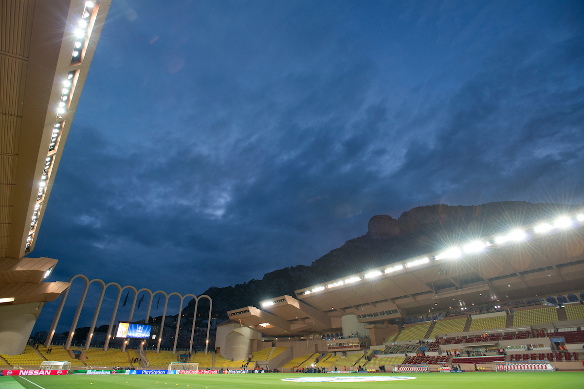 A general view of the stadium ahead of the UEFA Champions League round of 16 second leg at Stade Louis II, Monaco Picture by Russell Hart/Focus Images Ltd 07791 688 420 17/03/2015