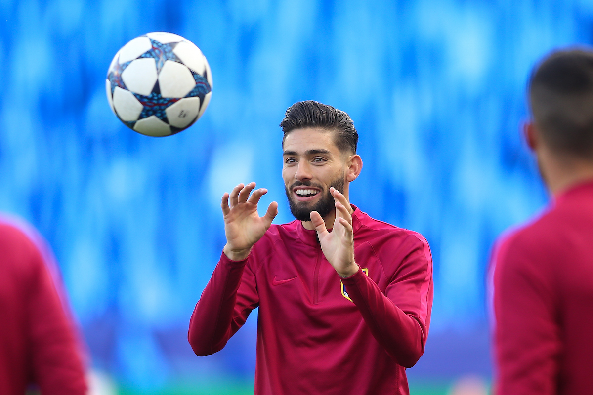 Yannick Ferreira Carrasco of Atletico Madrid during the Atletico Training Session at the King Power Stadium, Leicester Picture by Andy Kearns/Focus Images Ltd 0781 864 4264 17/04/2017