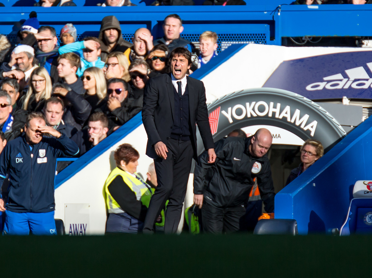 Antonio Conte manager of Chelsea during the Premier League match at Stamford Bridge, London Picture by Liam McAvoy/Focus Images Ltd 07413 543156 11/12/2016