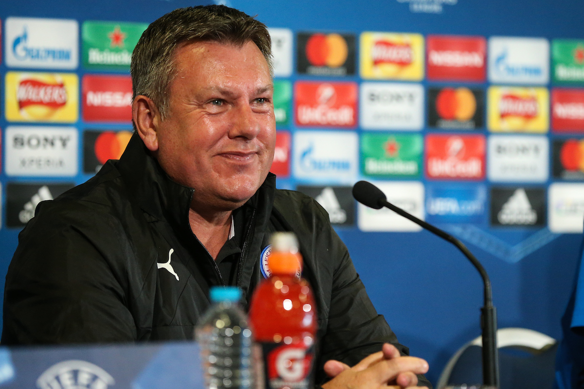 Leicester City caretaker manager Craig Shakespeare during the Leicester City Press Conference at the King Power Stadium, Leicester Picture by Andy Kearns/Focus Images Ltd 0781 864 4264 17/04/2017