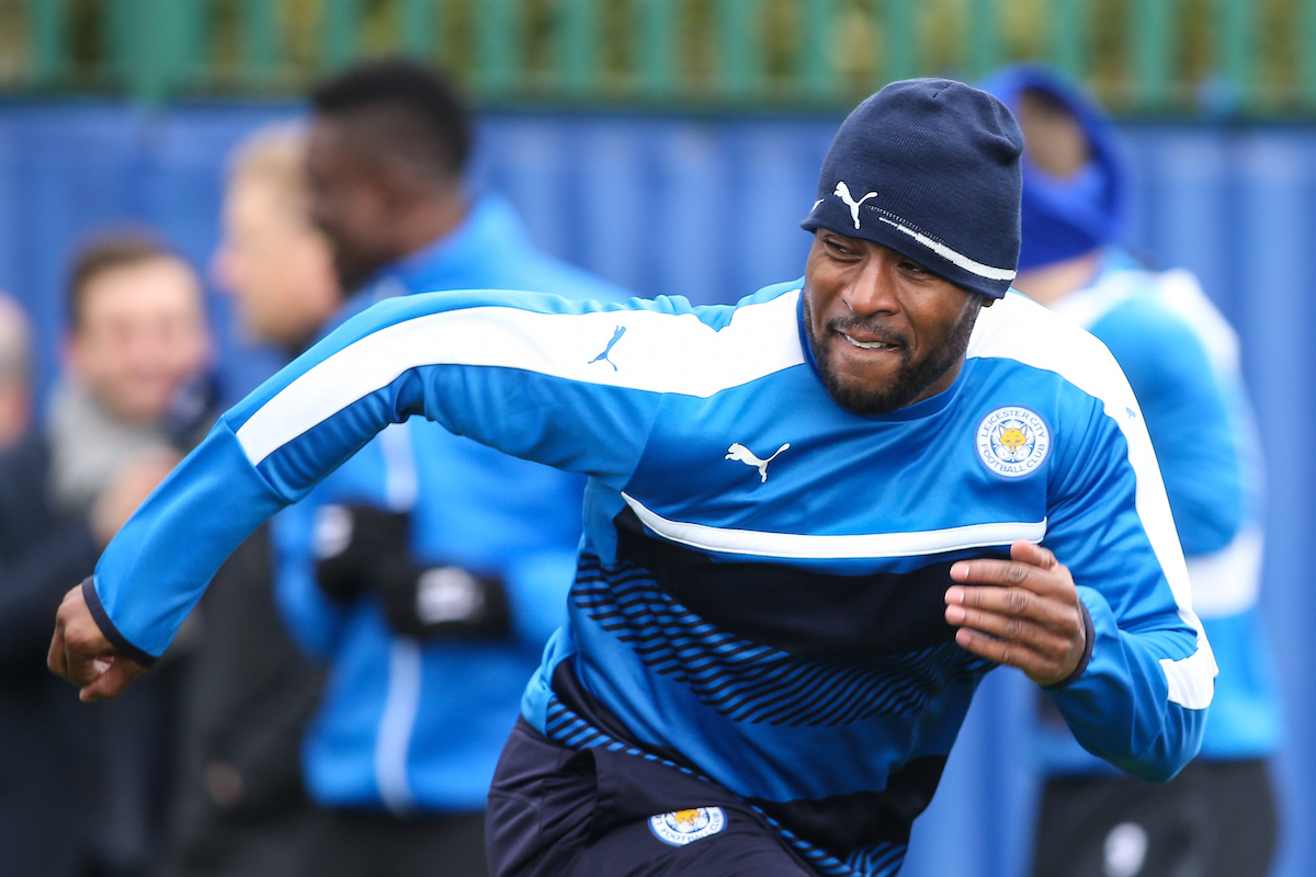 Wes Morgan of Leicester City during the Leicester City training session at Leicester City Training Ground, Leicester Picture by Andy Kearns/Focus Images Ltd 0781 864 4264 17/04/2017