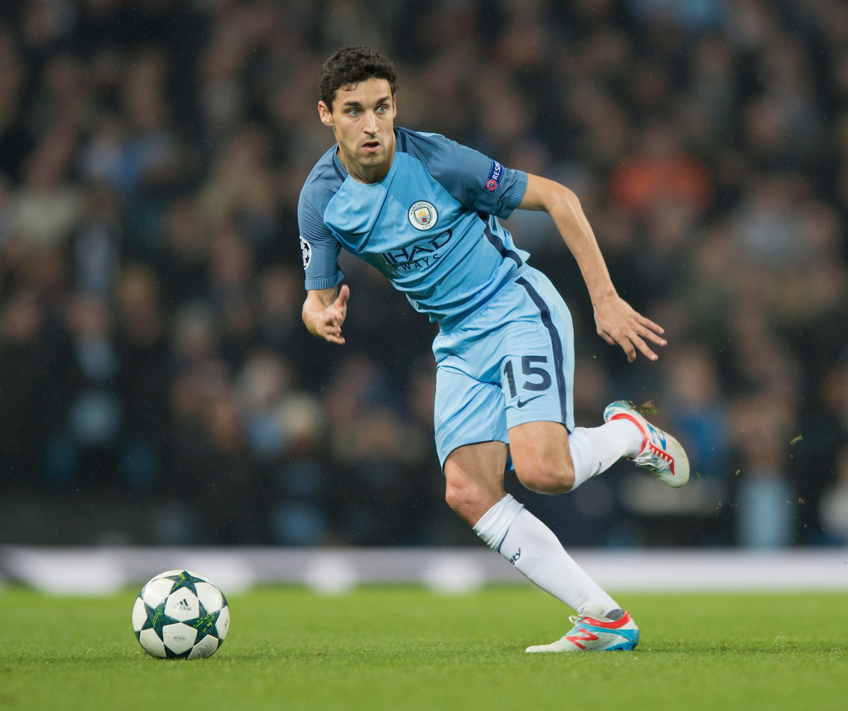 Jesus Navas of Manchester City during the UEFA Champions League match at the Etihad Stadium, Manchester Picture by Russell Hart/Focus Images Ltd 07791 688 420 06/12/2016