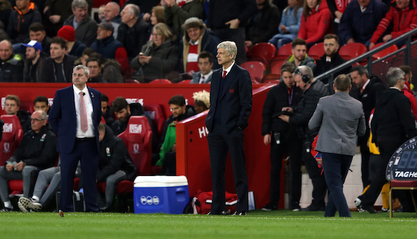 Arsenal manage Arsene Wenger during the Premier League match at the Riverside Stadium, Middlesbrough Picture by Christopher Booth/Focus Images Ltd 07711958291 17/04/2017