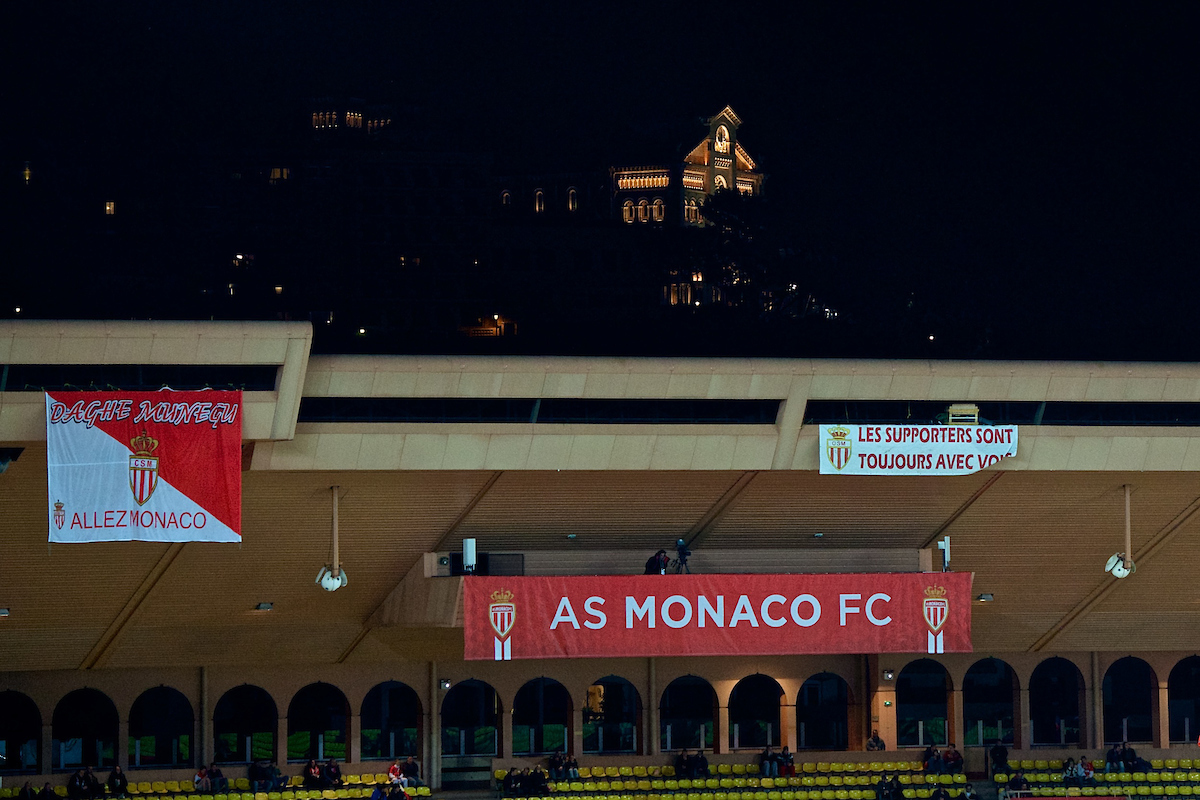 General view of the stadium ahead of the Ligue 1 match at Stade Louis II, Fontvieille Picture by Ian Wadkins/Focus Images Ltd +44 7877 568959 21/02/2014
