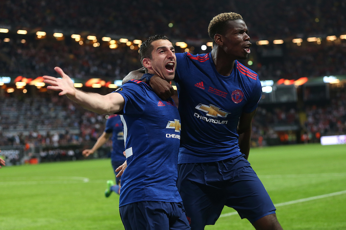 Henrikh Mkhitaryan of Manchester United celebrates scoring his sides 2nd goal during the UEFA Europa League match at Friends Arena, Stockholm Picture by Paul Chesterton/Focus Images Ltd +44 7904 640267 24/05/2017