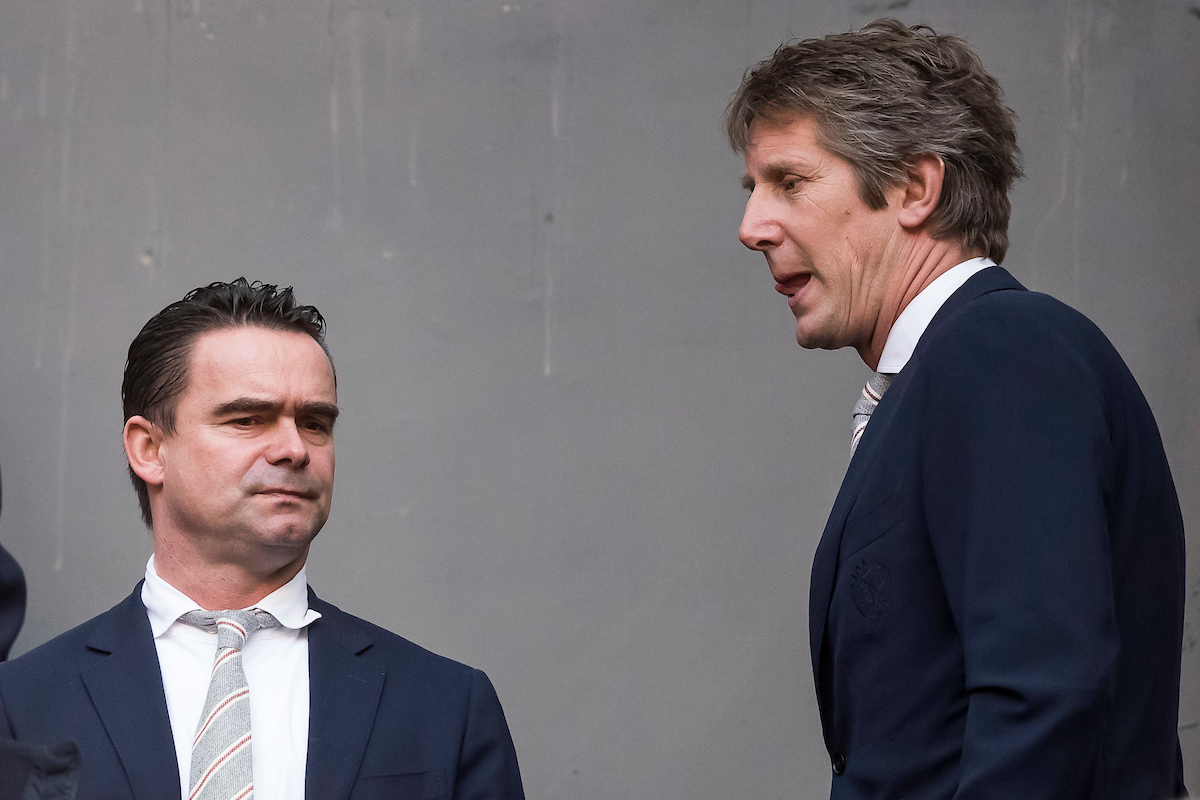 Marc Overmars, Technical Director of Ajax (L) and Edwin van der Sar, CEO / Director of Ajax (R) before the Dutch Eredivisie match at Amsterdam Arena, Amsterdam Picture by Joep Joseph Leenen/Focus Images Ltd +316 5261929 12/03/2017 ***NETHERLANDS OUT***