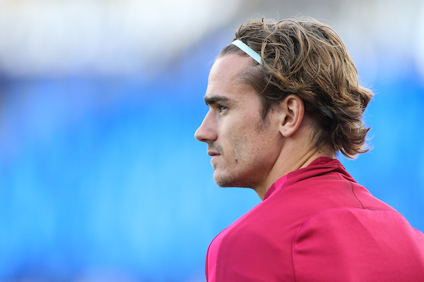 Antoine Griezmann of Atletico Madrid during the Atletico Training Session at the King Power Stadium, Leicester Picture by Andy Kearns/Focus Images Ltd 0781 864 4264 17/04/2017