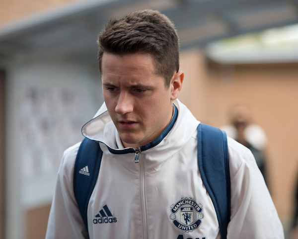 Ander Herrera of Manchester United arrives at the stadium before the Premier League match at Turf Moor, Burnley Picture by Russell Hart/Focus Images Ltd 07791 688 420 23/04/2017