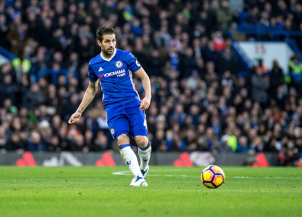 Cesc Fabregas of Chelsea during the Premier League match at Stamford Bridge, London Picture by Liam McAvoy/Focus Images Ltd 07413 543156 26/12/2016