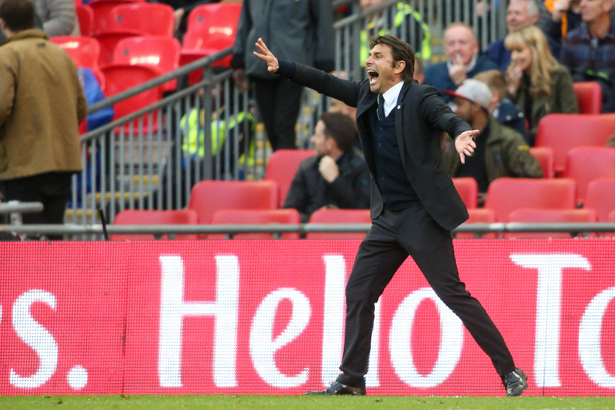 Chelsea manager Antonio Conte during the FA Cup semi-final match at Wembley Stadium, London Picture by Andy Kearns/Focus Images Ltd 0781 864 4264 22/04/2017