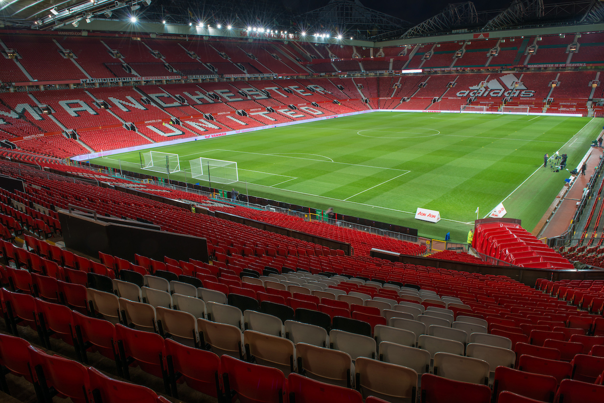 A general view of Old Trafford, Manchester prior to the first leg of the EFL Cup Semi-final between Manchester United and Hull City Picture by Matt Wilkinson/Focus Images Ltd 07814 960751 10/01/2017
