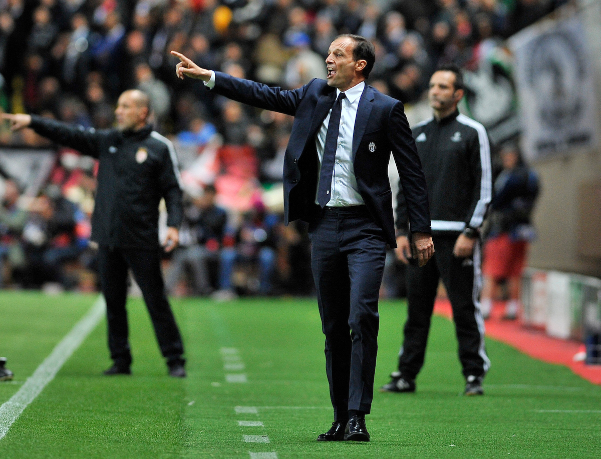 Head coach of Juventus, Massimiliano Allegri during the UEFA Champions League match at Stade Louis II, Monaco Picture by Stefano Gnech/Focus Images Ltd +39 333 1641678 03/05/2017