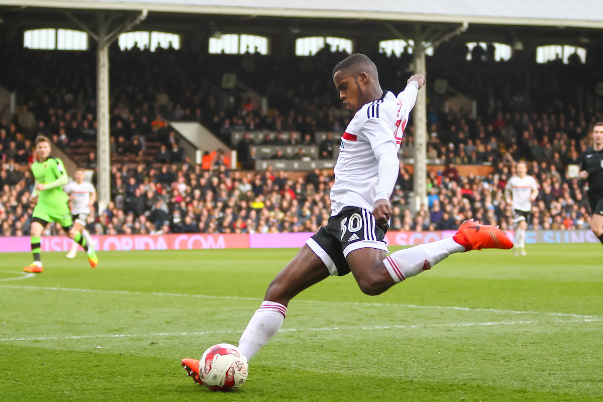 Ryan Sessegnon of Fulham sends in a cross during the Sky Bet Championship match at Craven Cottage, London Picture by Richard Brooks/Focus Images Ltd 07947656233 18/03/2017