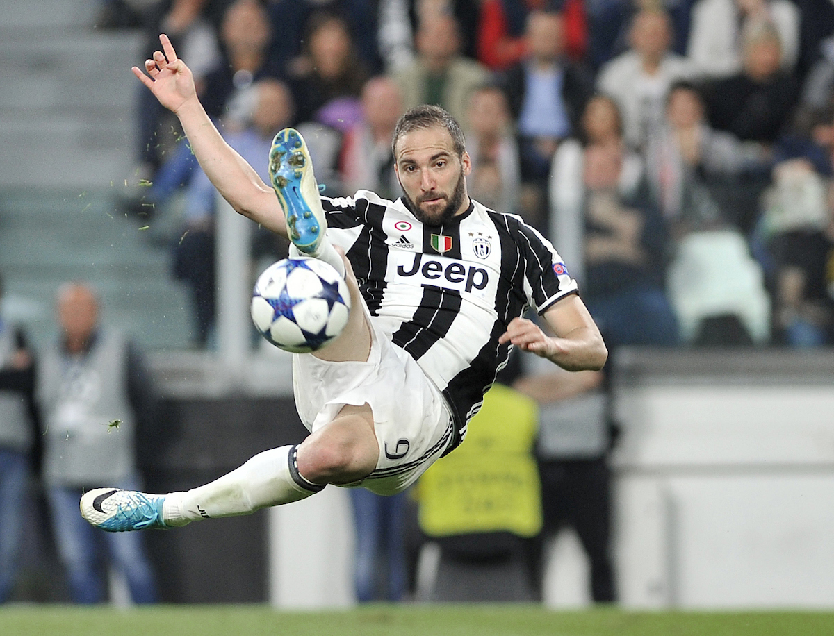 Gonzalo Higuain of Juventus during the UEFA Champions League semi final, second leg at Juventus Stadium, Turin Picture by Stefano Gnech/Focus Images Ltd +39 333 1641678 09/05/2017