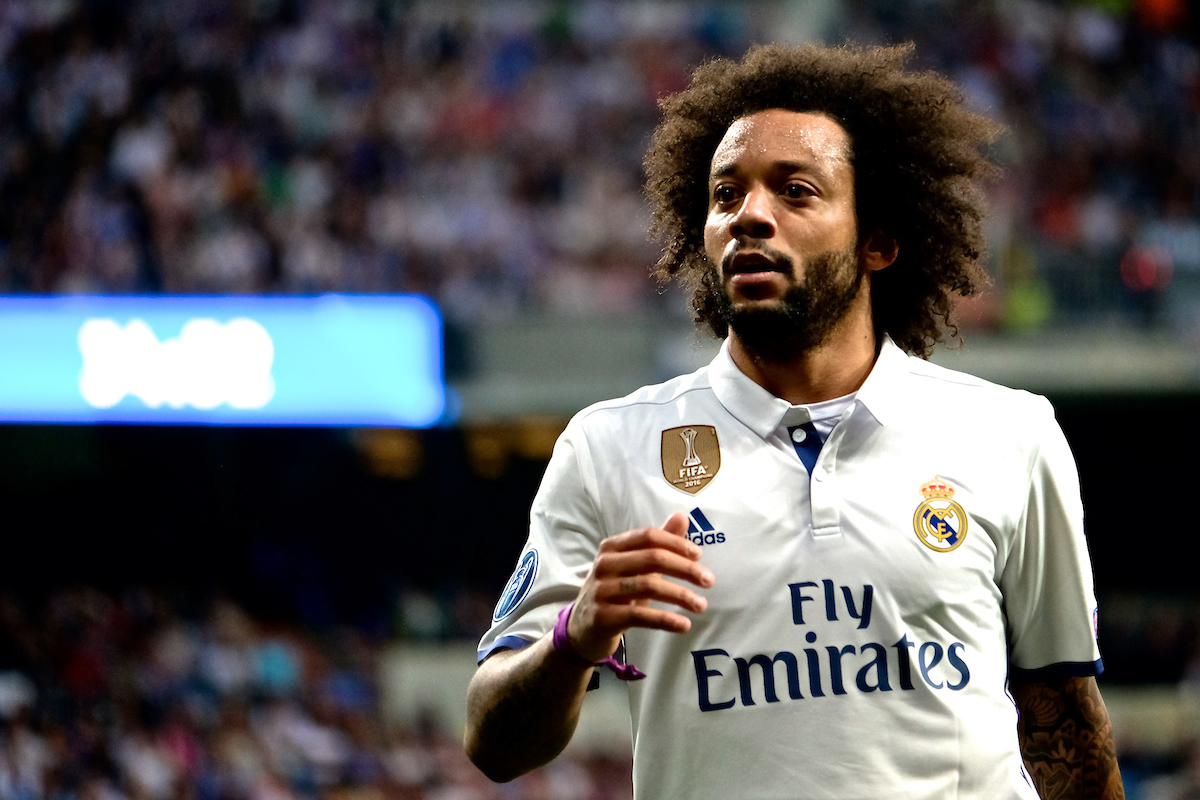Marcelo of Real Madrid during the first leg of the UEFA Champions League semi-final at the Estadio Santiago Bernabeu, Madrid Picture by Kristian Kane/Focus Images Ltd +44 7814 482222 02/05/2017