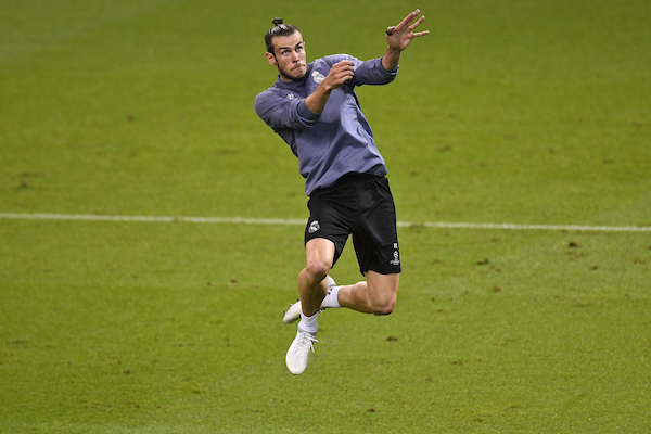 Gareth Bale of Real Madrid during the Real Madrid training session at the Principality Stadium, Cardiff Picture by Kristian Kane/Focus Images Ltd +44 7814 482222 02/06/2017