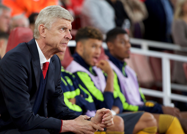 Manager Arsene Wenger of Arsenal during the UEFA Champions League match at the Emirates Stadium, London Picture by Alan Stanford/Focus Images Ltd +44 7915 056117 28/09/2016
