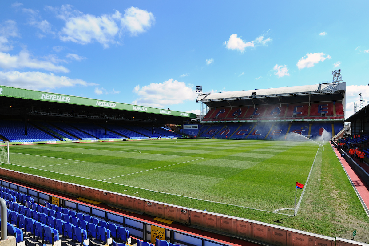 A general view of Selhurst Park ahead of the Barclays Premier League match at Selhurst Park, London Picture by Seb Daly/Focus Images Ltd +447738 614630 18/04/2015
