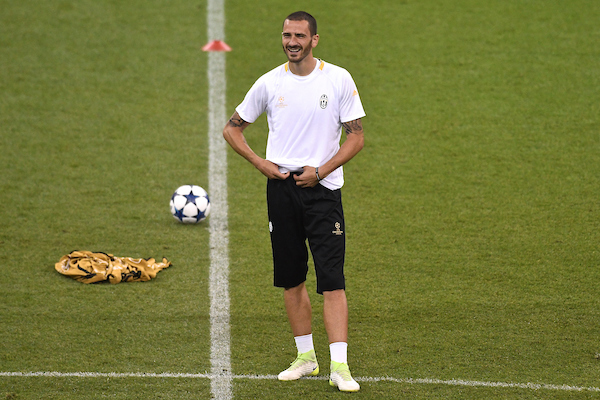 Leonardo Bonucci of Juventus during the Juventus training session at the Principality Stadium, Cardiff Picture by Kristian Kane/Focus Images Ltd +44 7814 482222 02/06/2017
