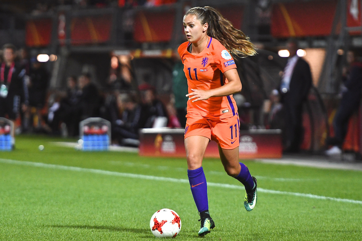 Like Martens of Netherlands during the UEFA Women's Euros 2017 match at Sparta Stadion Het Kasteel, Rotterdam Picture by Kristian Kane/Focus Images Ltd +44 7814 482222 20/07/2017