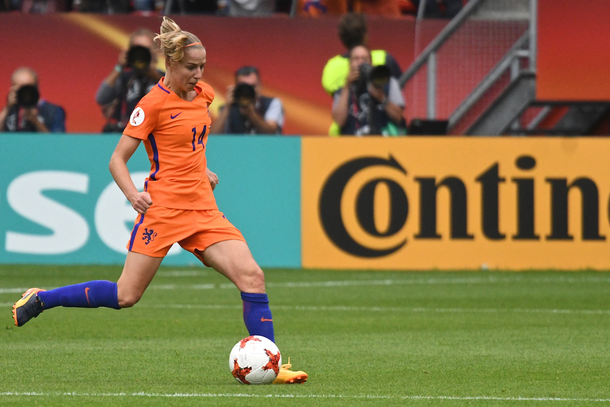 Jackie Groenen of Netherlands during the UEFA Women's Euros match at Stadion Galgenwaard, Utrecht Picture by Kristian Kane/Focus Images Ltd +44 7814 482222 16/07/2017