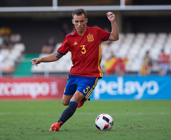 Alex Grimaldo of Spain U21 during the UEFA Euro U21 2017 Qualifiers match at Nou Estadi Castàlia, Castellón de la Plana Picture by Maria Jose Segovia/Focus Images Ltd +34 660052291 01/09/2016