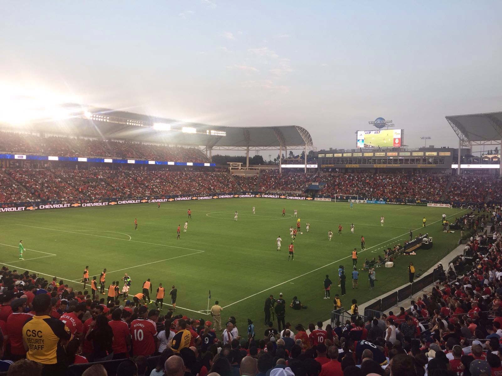 Los Angeles Galaxy vs Manchester United / Foto: MarcadorInt