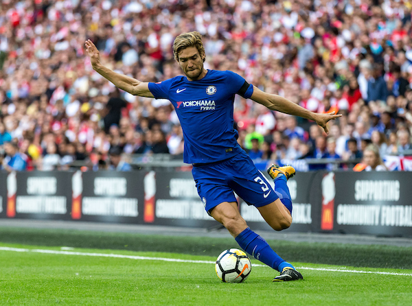 Marcos Alonso of Chelsea during the FA Community Shield match at Wembley Stadium, London Picture by Liam McAvoy/Focus Images Ltd 07413 543156 06/08/2017
